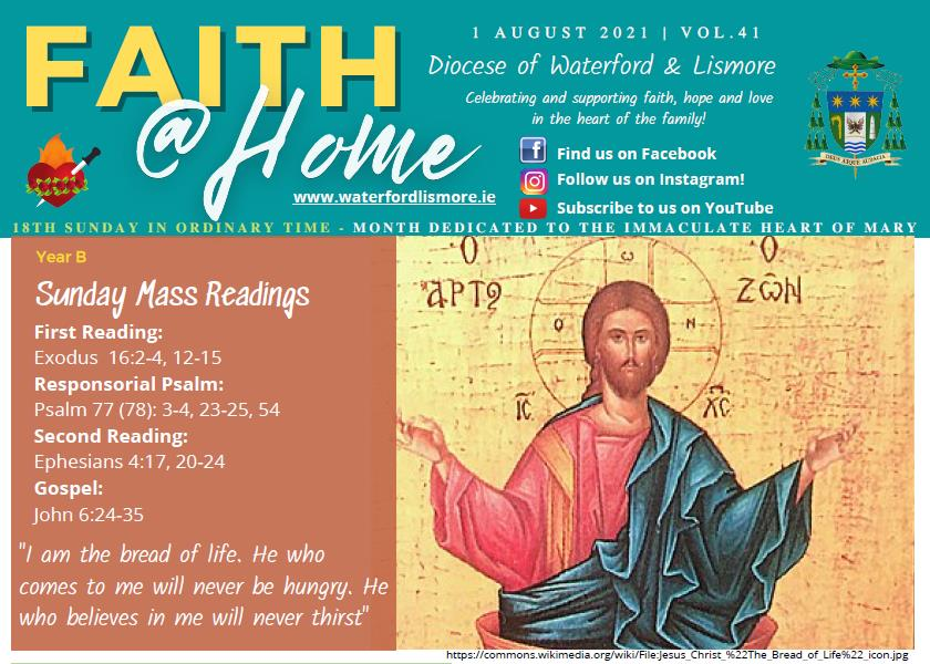 Faith at Home Newsletter – 18th Sunday in Ordinary Time