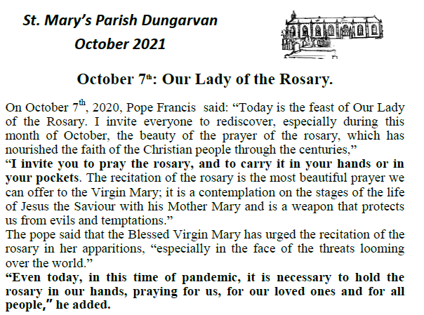 Parish Newsletter – October 2021