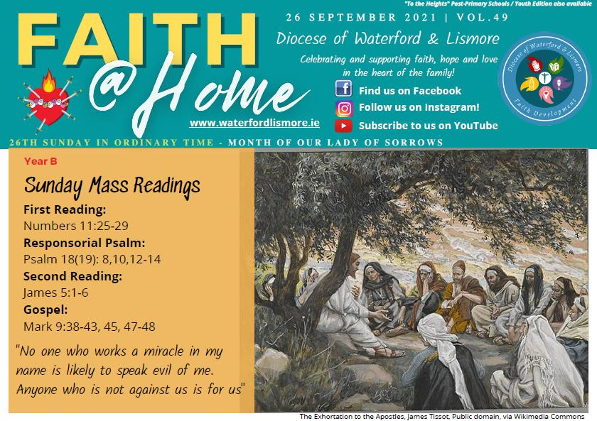 Faith at Home Newsletter – 26th Sunday in Ordinary Time