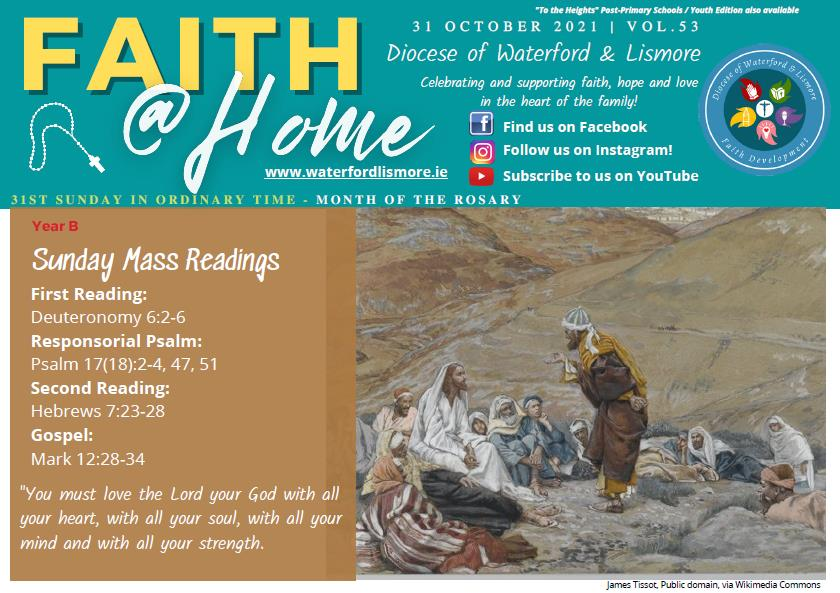 Faith at Home Newsletter – 31st Sunday in Ordinary Time